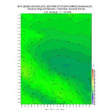 J 28 paftası 1/100.000 ölçekli Havadan Rejyonal Manyetik Haritası