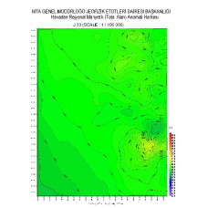 J 30 paftası 1/100.000 ölçekli Havadan Rejyonal Manyetik Haritası