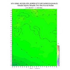 J 32 paftası 1/100.000 ölçekli Havadan Rejyonal Manyetik Haritası