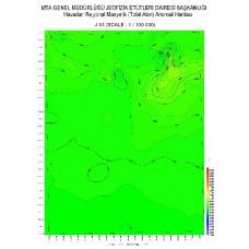 J 33 paftası 1/100.000 ölçekli Havadan Rejyonal Manyetik Haritası