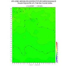 J 34 paftası 1/100.000 ölçekli Havadan Rejyonal Manyetik Haritası