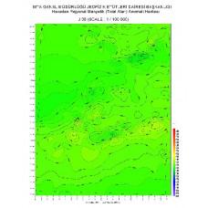 J 36 paftası 1/100.000 ölçekli Havadan Rejyonal Manyetik Haritası