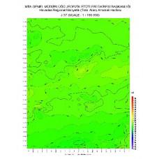 J 37 paftası 1/100.000 ölçekli Havadan Rejyonal Manyetik Haritası