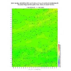 J 38 paftası 1/100.000 ölçekli Havadan Rejyonal Manyetik Haritası