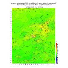 J 39 paftası 1/100.000 ölçekli Havadan Rejyonal Manyetik Haritası