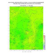 J 40 paftası 1/100.000 ölçekli Havadan Rejyonal Manyetik Haritası