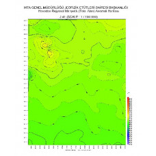 J 41 paftası 1/100.000 ölçekli Havadan Rejyonal Manyetik Haritası