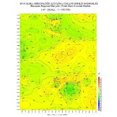 J 47 paftası 1/100.000 ölçekli Havadan Rejyonal Manyetik Haritası