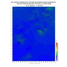 K 18 paftası 1/100.000 ölçekli Havadan Rejyonal Manyetik Haritası