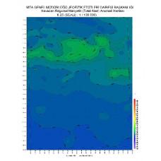 K 23 paftası 1/100.000 ölçekli Havadan Rejyonal Manyetik Haritası