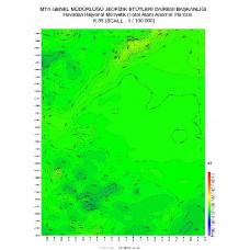 K 35 paftası 1/100.000 ölçekli Havadan Rejyonal Manyetik Haritası