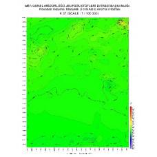 K 37 paftası 1/100.000 ölçekli Havadan Rejyonal Manyetik Haritası