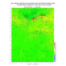 K 39 paftası 1/100.000 ölçekli Havadan Rejyonal Manyetik Haritası
