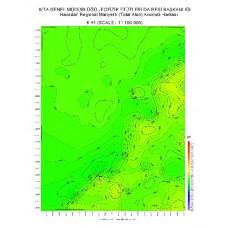 K 41 paftası 1/100.000 ölçekli Havadan Rejyonal Manyetik Haritası