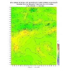 K 44 paftası 1/100.000 ölçekli Havadan Rejyonal Manyetik Haritası