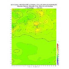 K 45 paftası 1/100.000 ölçekli Havadan Rejyonal Manyetik Haritası