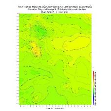 K 46 paftası 1/100.000 ölçekli Havadan Rejyonal Manyetik Haritası