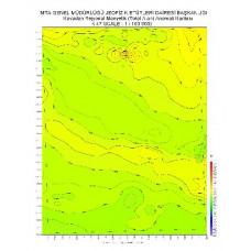K 47 paftası 1/100.000 ölçekli Havadan Rejyonal Manyetik Haritası