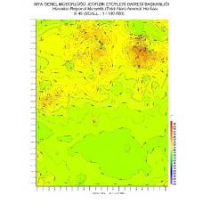 K 49 paftası 1/100.000 ölçekli Havadan Rejyonal Manyetik Haritası