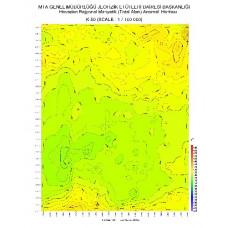 K 50 paftası 1/100.000 ölçekli Havadan Rejyonal Manyetik Haritası