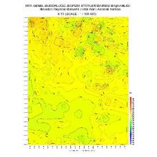 K 51 paftası 1/100.000 ölçekli Havadan Rejyonal Manyetik Haritası