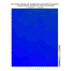L 21 paftası 1/100.000 ölçekli Havadan Rejyonal Manyetik Haritası