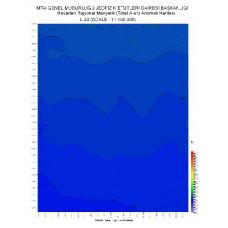 L 23 paftası 1/100.000 ölçekli Havadan Rejyonal Manyetik Haritası