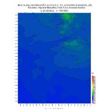 L 24 paftası 1/100.000 ölçekli Havadan Rejyonal Manyetik Haritası