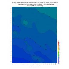 L 26 paftası 1/100.000 ölçekli Havadan Rejyonal Manyetik Haritası