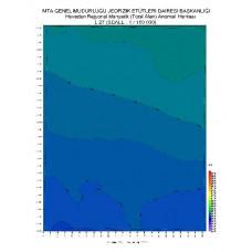 L 27 paftası 1/100.000 ölçekli Havadan Rejyonal Manyetik Haritası
