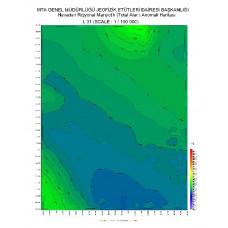 L 31 paftası 1/100.000 ölçekli Havadan Rejyonal Manyetik Haritası