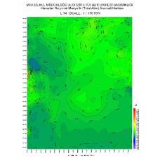 L 34 paftası 1/100.000 ölçekli Havadan Rejyonal Manyetik Haritası