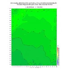 L 36 paftası 1/100.000 ölçekli Havadan Rejyonal Manyetik Haritası
