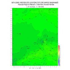 L 37 paftası 1/100.000 ölçekli Havadan Rejyonal Manyetik Haritası