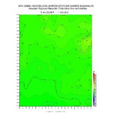 L 40 paftası 1/100.000 ölçekli Havadan Rejyonal Manyetik Haritası