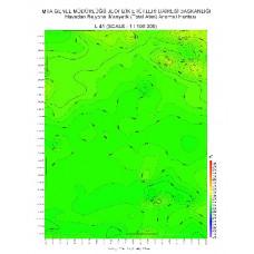 L 41 paftası 1/100.000 ölçekli Havadan Rejyonal Manyetik Haritası