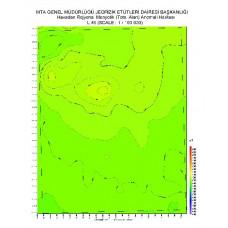 L 46 paftası 1/100.000 ölçekli Havadan Rejyonal Manyetik Haritası