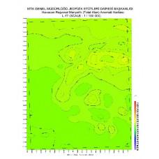 L 47 paftası 1/100.000 ölçekli Havadan Rejyonal Manyetik Haritası
