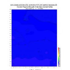 M 21 paftası 1/100.000 ölçekli Havadan Rejyonal Manyetik Haritası