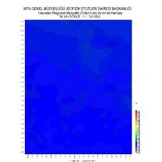 M 24 paftası 1/100.000 ölçekli Havadan Rejyonal Manyetik Haritası