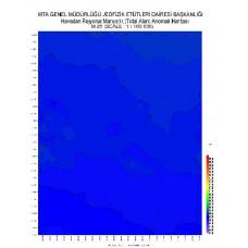 M 25 paftası 1/100.000 ölçekli Havadan Rejyonal Manyetik Haritası
