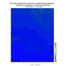 M 26 paftası 1/100.000 ölçekli Havadan Rejyonal Manyetik Haritası