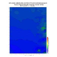 M 27 paftası 1/100.000 ölçekli Havadan Rejyonal Manyetik Haritası