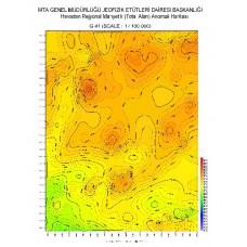 M 30 paftası 1/100.000 ölçekli Havadan Rejyonal Manyetik Haritası