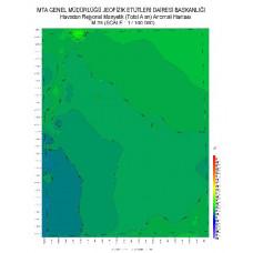 M 35 paftası 1/100.000 ölçekli Havadan Rejyonal Manyetik Haritası