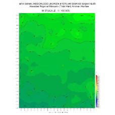 M 37 paftası 1/100.000 ölçekli Havadan Rejyonal Manyetik Haritası