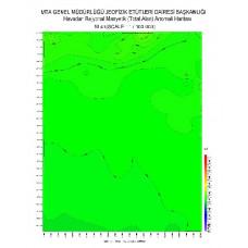 M 41 paftası 1/100.000 ölçekli Havadan Rejyonal Manyetik Haritası