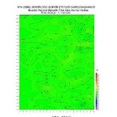 M 42 paftası 1/100.000 ölçekli Havadan Rejyonal Manyetik Haritası