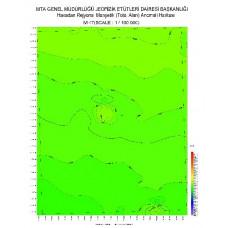 M 47 paftası 1/100.000 ölçekli Havadan Rejyonal Manyetik Haritası