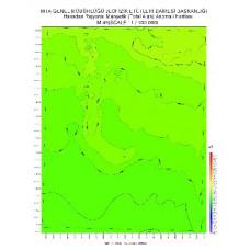 M 49 paftası 1/100.000 ölçekli Havadan Rejyonal Manyetik Haritası